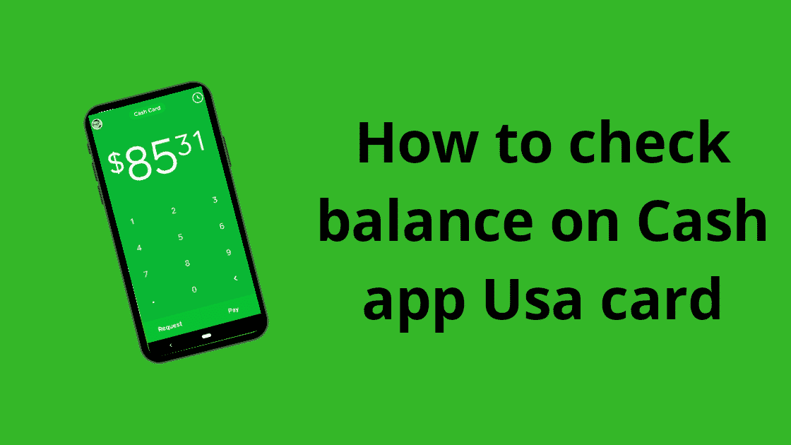 Check Balance On The Cash App Card