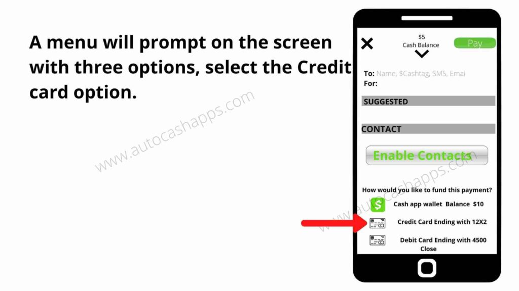 send money with a Credit Card to a Cash App 3