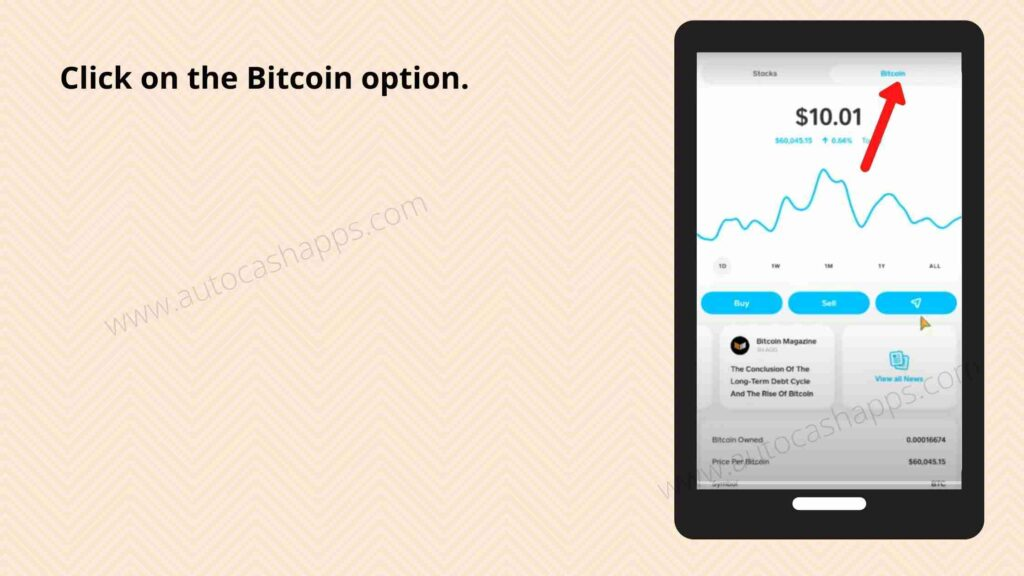 Steps to send bitcoin from Cash app (3)