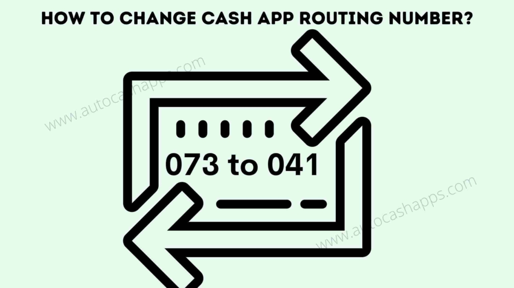How to change routing number