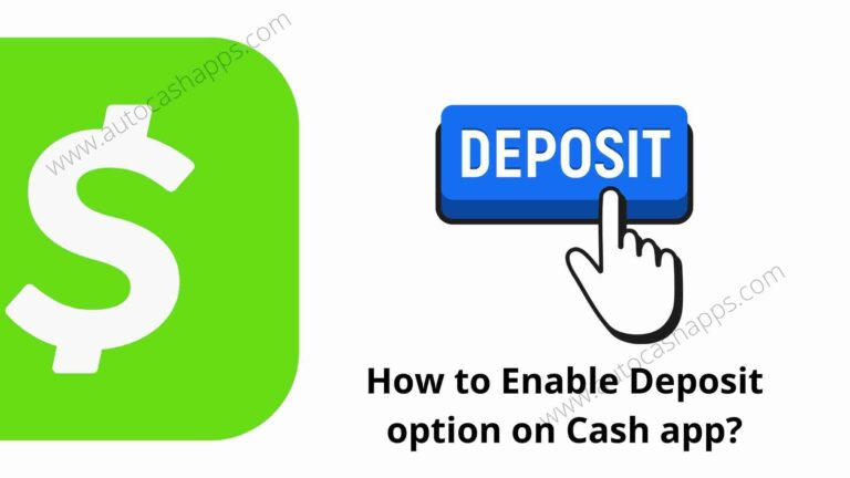 How to enable deposit on Cash app