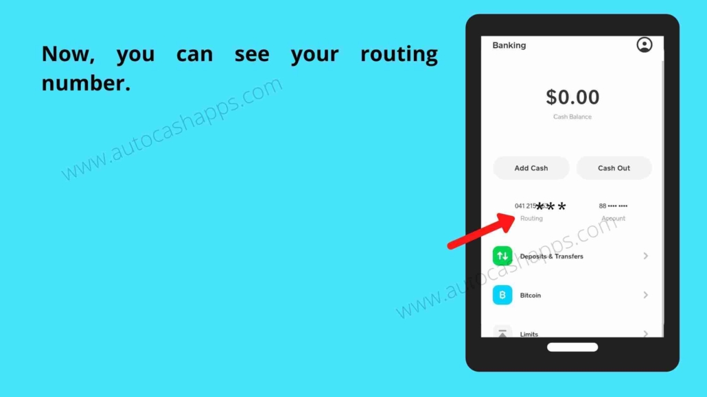 Steps to check routing number  (3)
