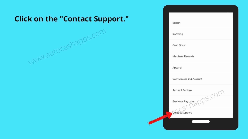 Steps to connect customer support on Cash app (4)