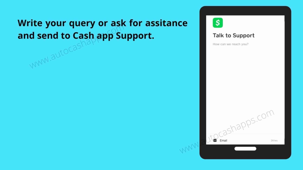 Steps to connect customer support on Cash app (5)